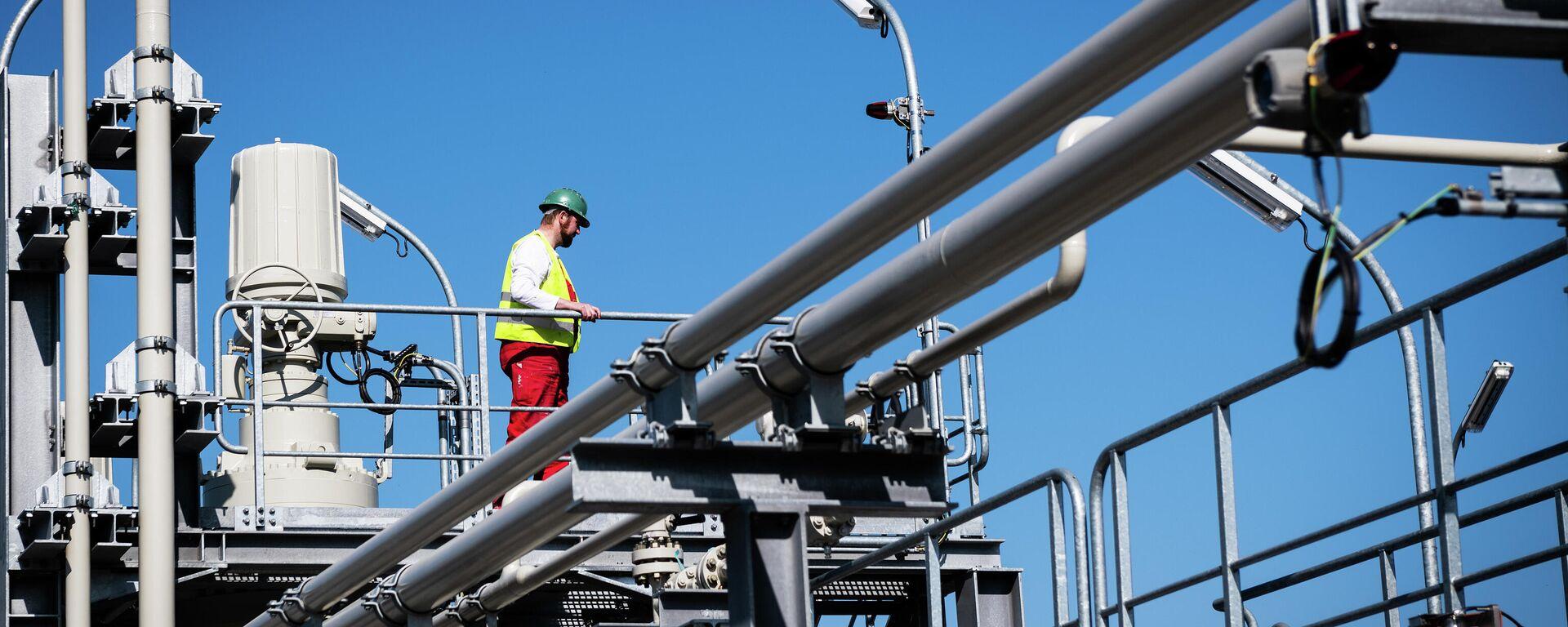 La construcción del gasoducto Nord Stream 2 en Alemania - Sputnik Mundo, 1920, 28.07.2021