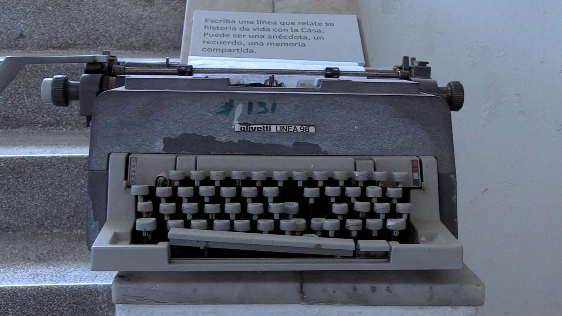 Una de las máquinas de escribir utilizadas en la Casa en años anteriores - Sputnik Mundo, 1920, 06.04.2021