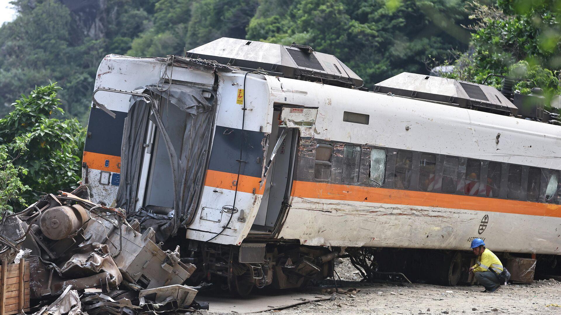 Lugar del accidente de tren en Taiwán - Sputnik Mundo, 1920, 06.04.2021