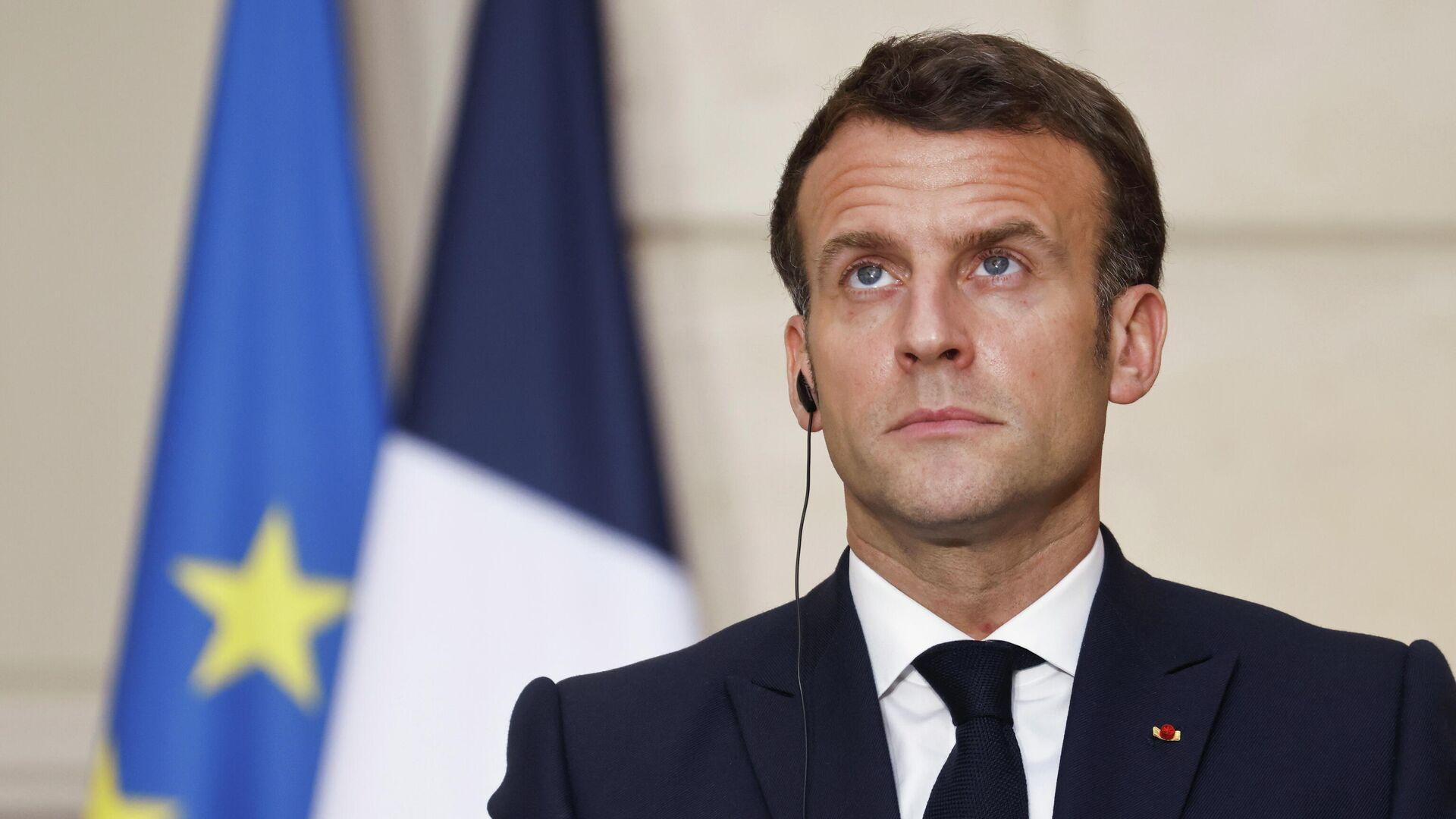 Emmanuel Macron, el presidente de Francia - Sputnik Mundo, 1920, 06.04.2021