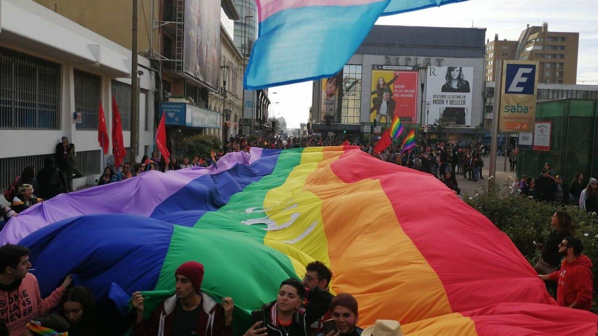 Marcha orgullo LGTBI, en Concepción, 2019 - Sputnik Mundo, 1920, 07.04.2021
