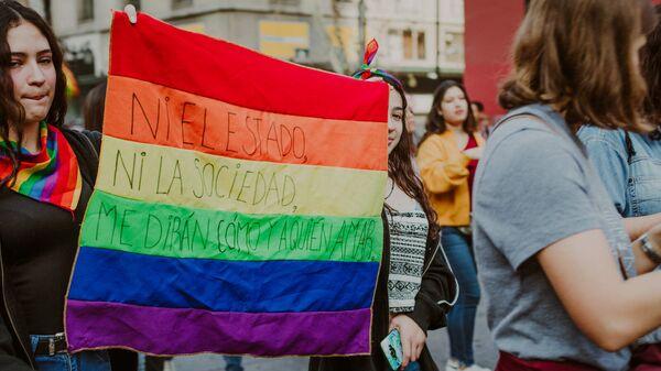 Marcha por el Orgullo LGBTI en Chile - Sputnik Mundo
