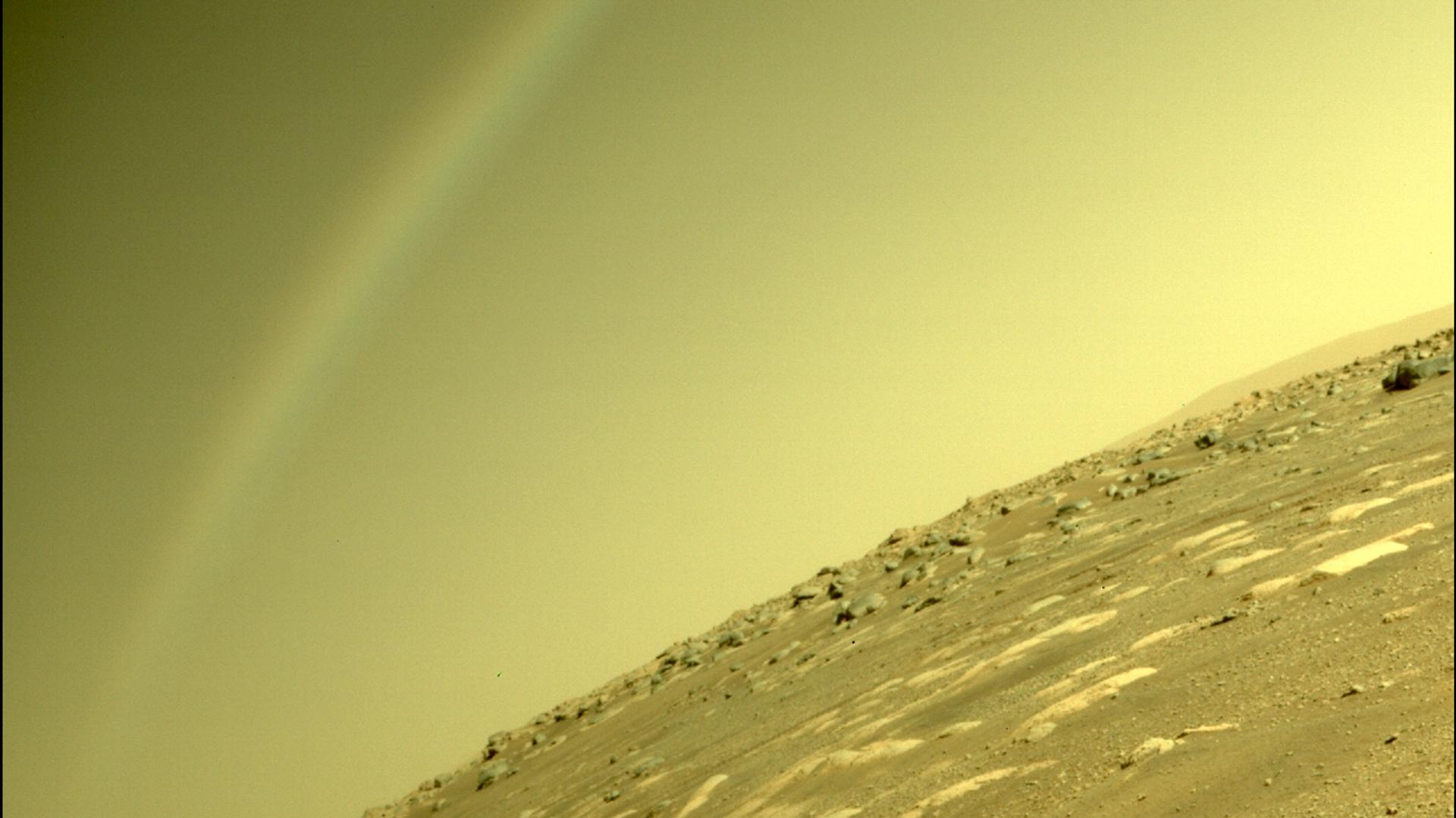 El rover Mars Perseverance de la NASA utilizó su cámara trasera para tomar esta imagen - Sputnik Mundo, 1920, 07.04.2021
