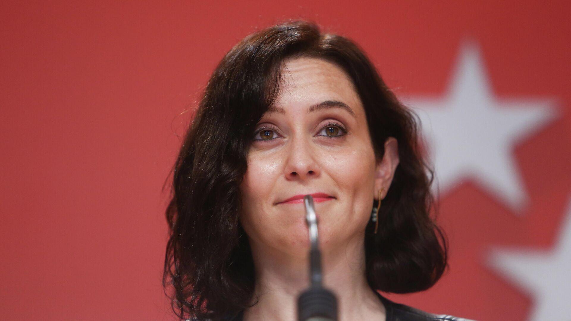 Isabel Díaz Ayuso, presidenta de la Comunidad de Madrid y candidata a la reelección - Sputnik Mundo, 1920, 13.04.2021