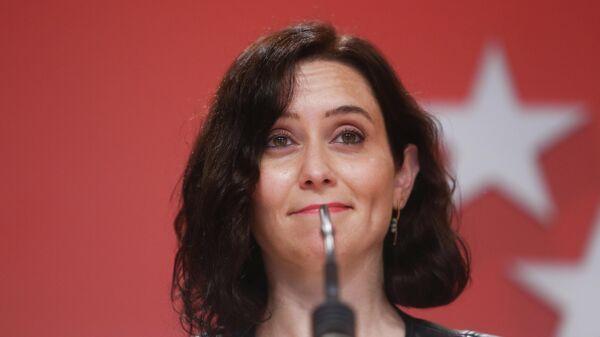 Isabel Díaz Ayuso, presidenta de la Comunidad de Madrid y candidata a la reelección - Sputnik Mundo