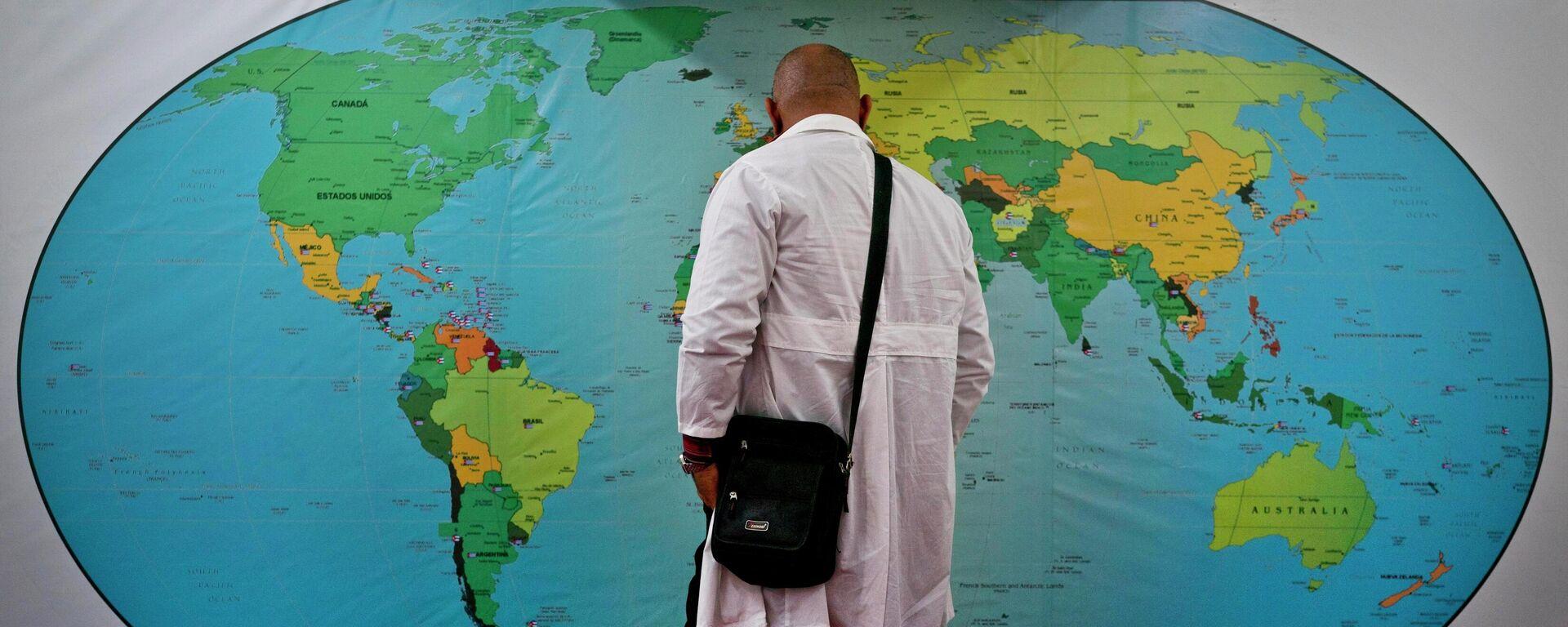 Un médico cubano y el mapa del mundo - Sputnik Mundo, 1920, 08.04.2021