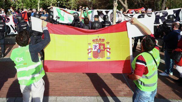 Partidarios del partido VOX en Madrid, España - Sputnik Mundo