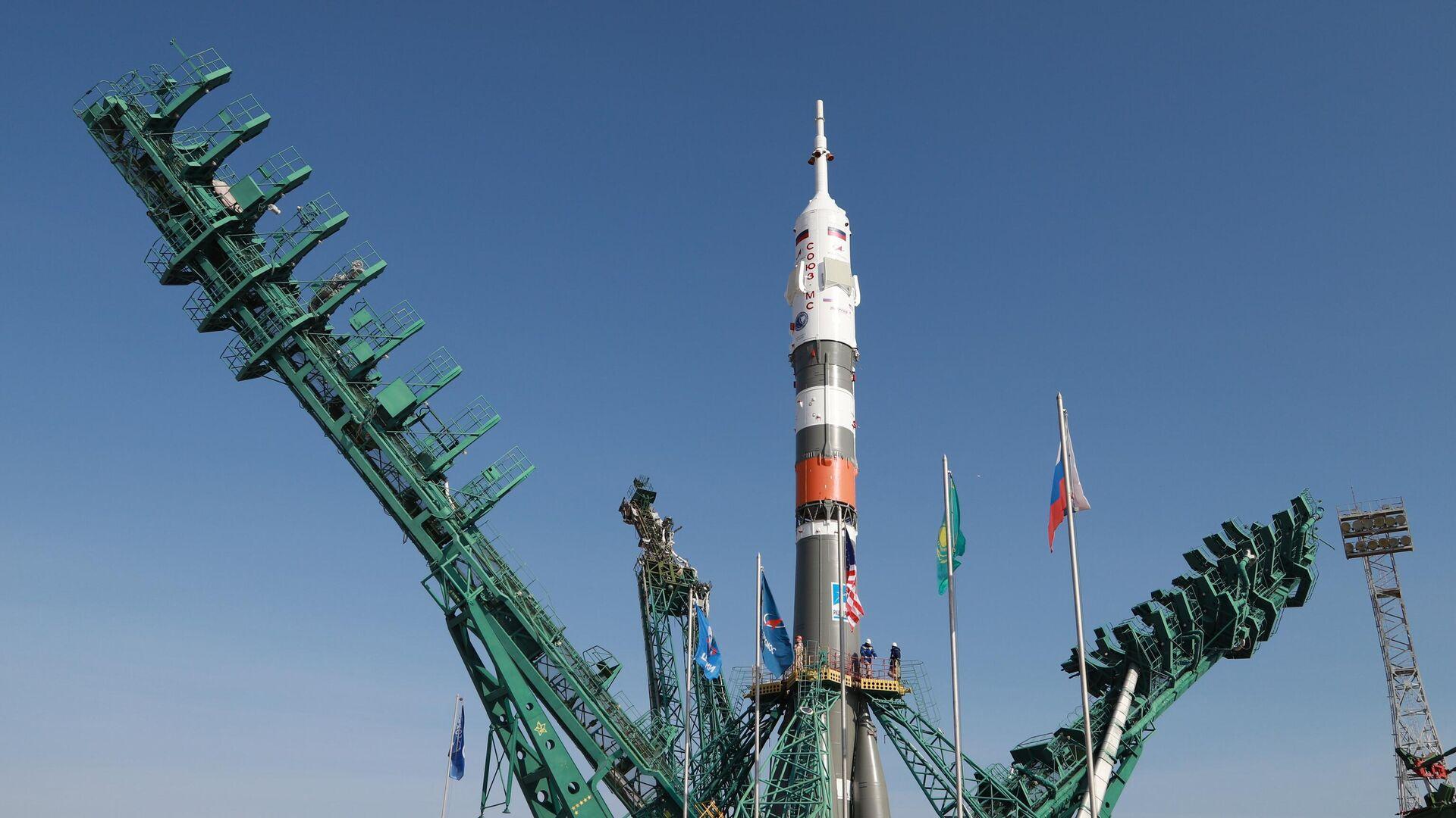 La nave espacial Soyuz MS  - Sputnik Mundo, 1920, 09.04.2021