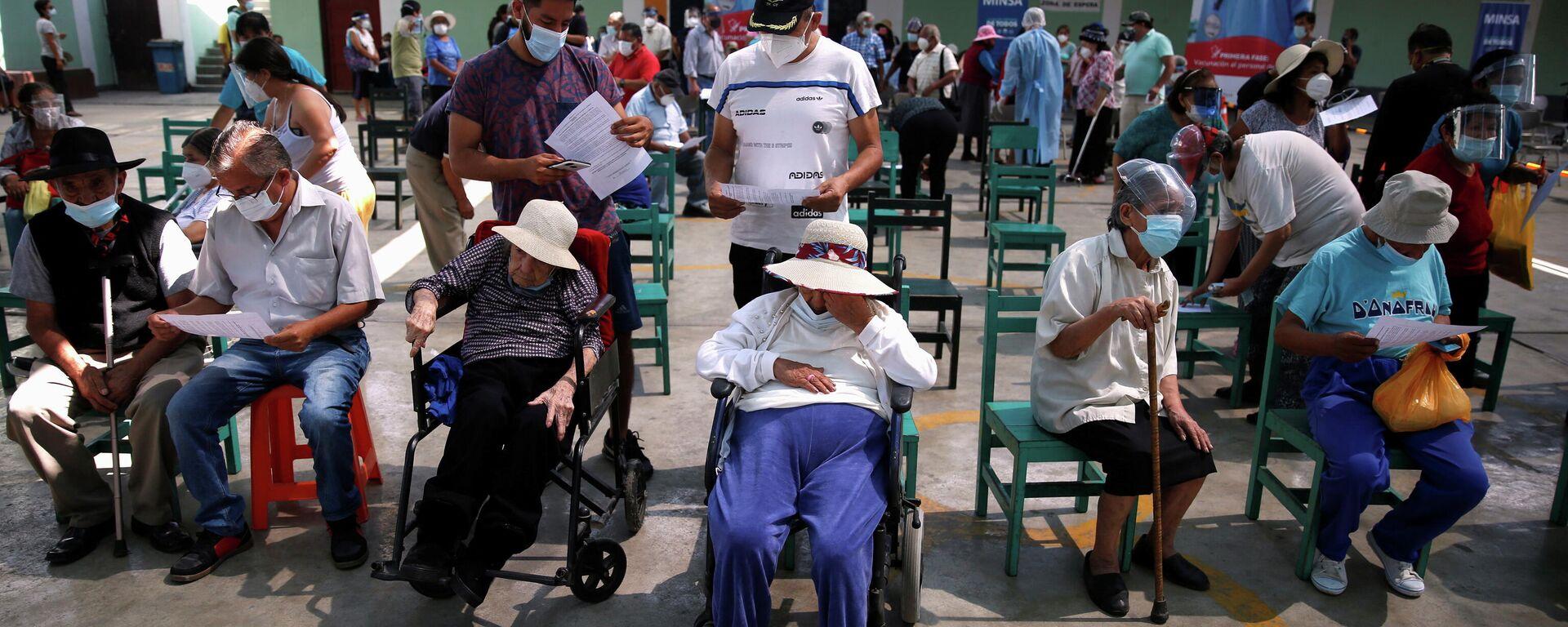 Vacunación anti-COVID en Lima, Perú - Sputnik Mundo, 1920, 09.04.2021
