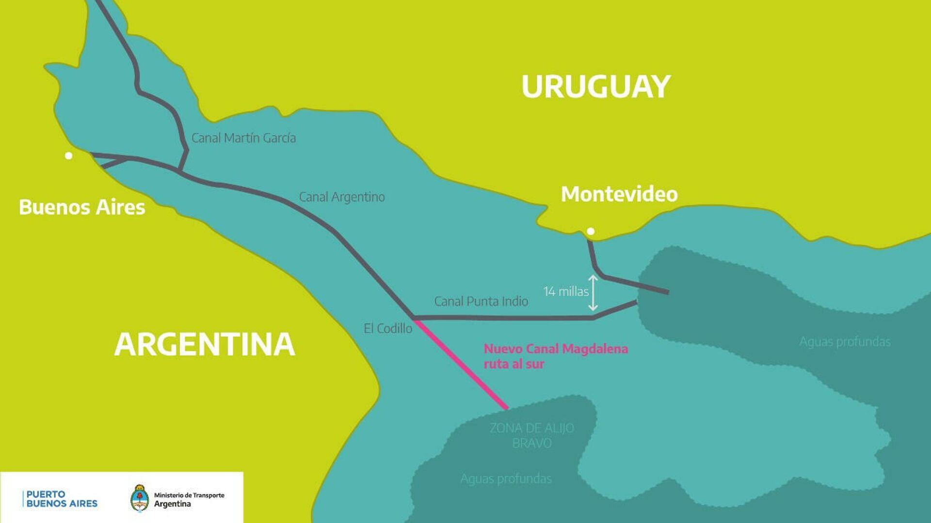 Canal Magdalena en el Río de la Plata - Sputnik Mundo, 1920, 10.04.2021