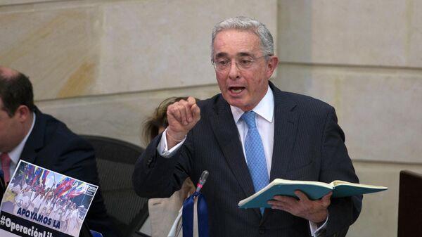 Álvaro Uribe, expresidente y exsenador colombiano - Sputnik Mundo