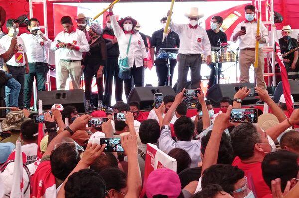 Acto de cierre de campaña de Pedro Castillo, candidato presidencial por Perú Libre - Sputnik Mundo