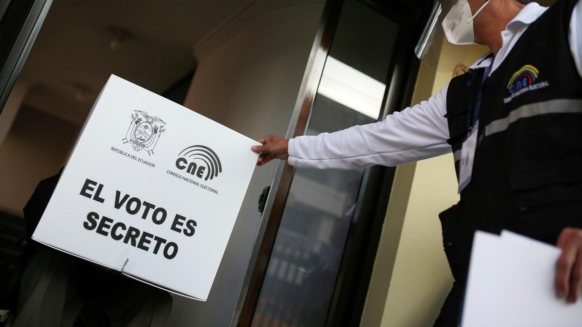 Preparativos para las elecciones en Ecuador - Sputnik Mundo, 1920, 10.04.2021