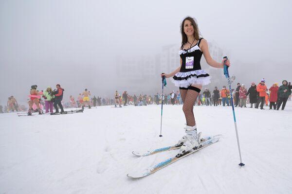 BoogelWoogel se enfrenta a una fuerte competencia del principal centro turístico de Siberia, Sheregesh, en la región de Kemerovo, en donde se organiza anualmente un evento similar que atrae a participantes de todo el mundo. - Sputnik Mundo