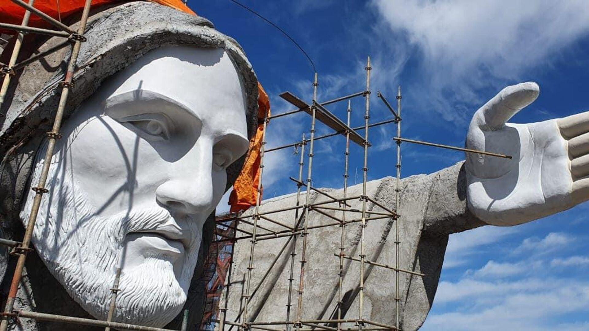 La construcción del Cristo Protector de Encantado, Brasil - Sputnik Mundo, 1920, 11.04.2021