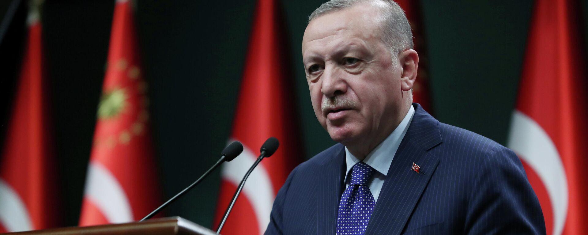 Recep Tayyip Erdogan, el presidente de Turquía  - Sputnik Mundo, 1920, 13.04.2021