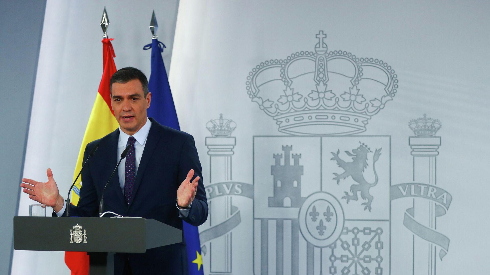 Pedro Sánchez, el presidente del Gobierno de España - Sputnik Mundo, 1920, 13.04.2021