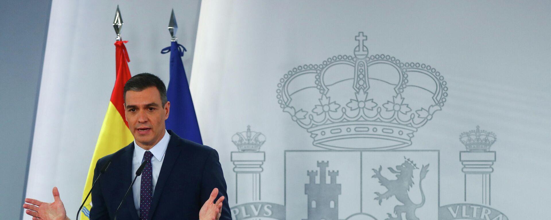 Pedro Sánchez, el presidente del Gobierno de España - Sputnik Mundo, 1920, 23.04.2021