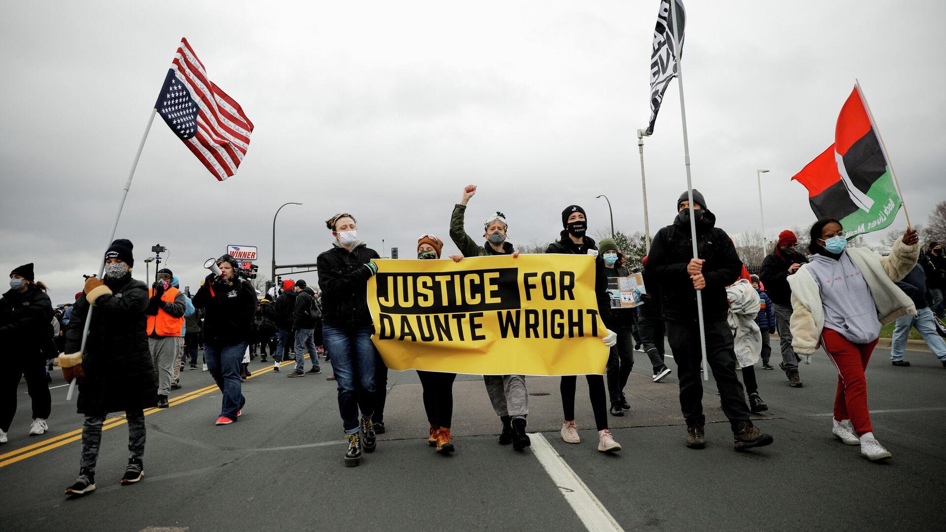 Las protestas después del asesinato del afroamericano Daunte Wright - Sputnik Mundo, 1920, 14.04.2021