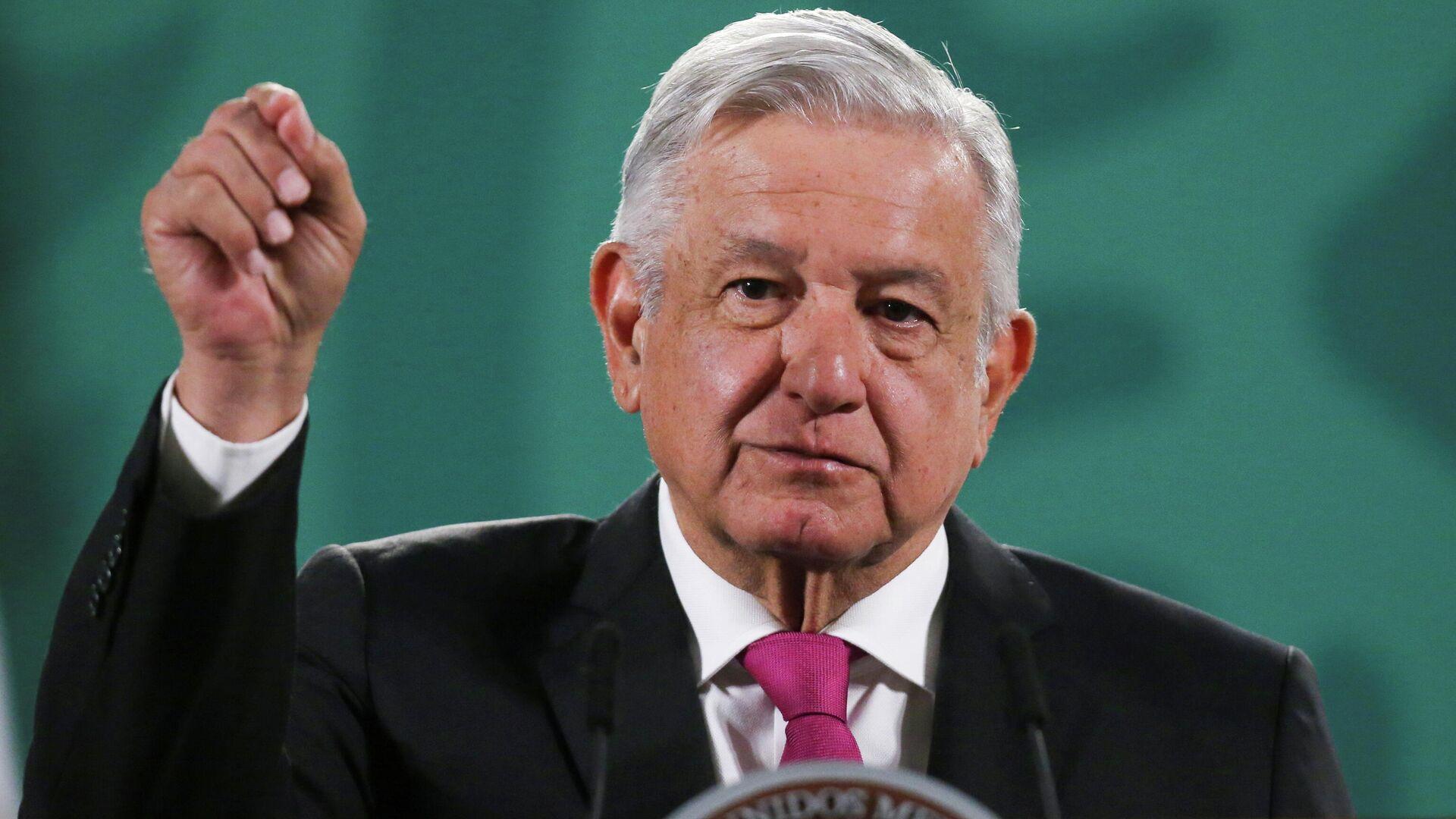 Andrés Manuel López Obrador, presidente mexicano - Sputnik Mundo, 1920, 14.04.2021
