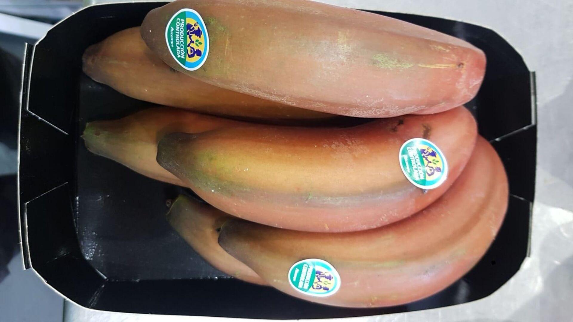 Bandeja de plátanos rojos canarios de Alcampo - Sputnik Mundo, 1920, 14.04.2021