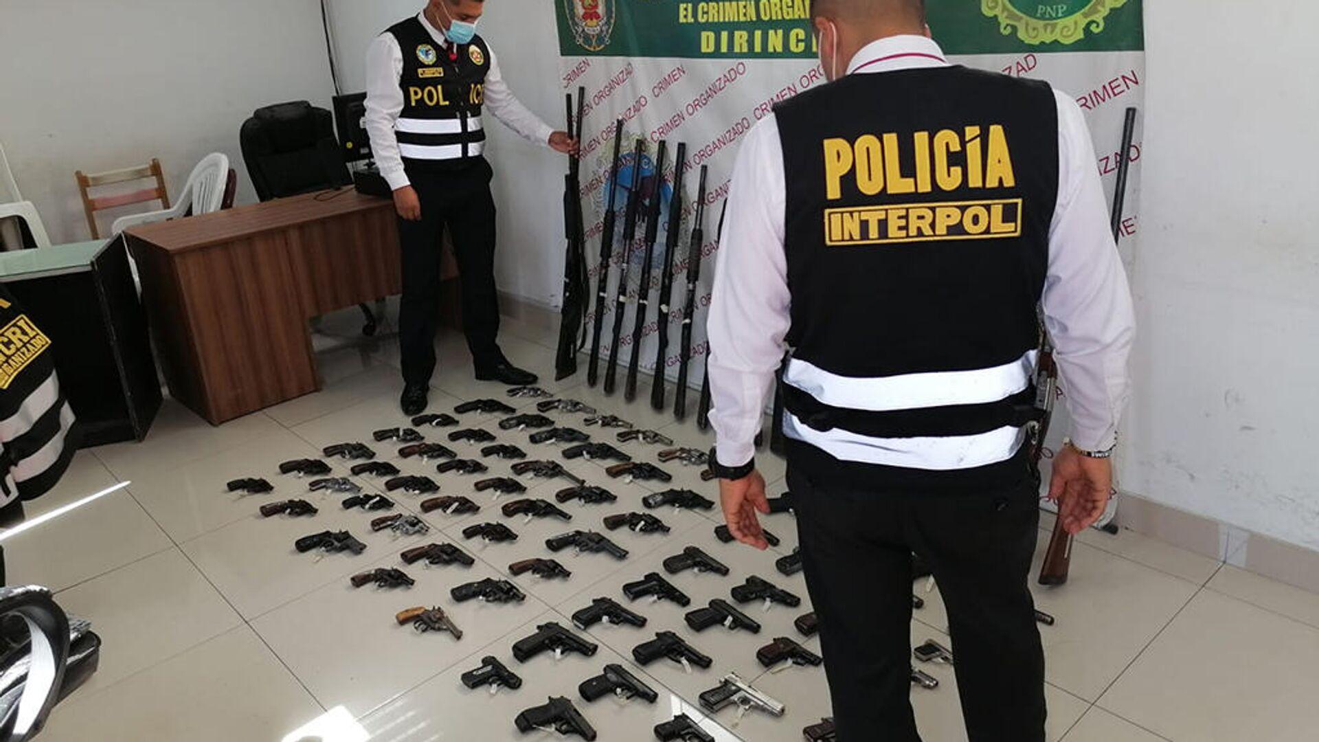 Policías de Interpol Perú - Sputnik Mundo, 1920, 14.04.2021