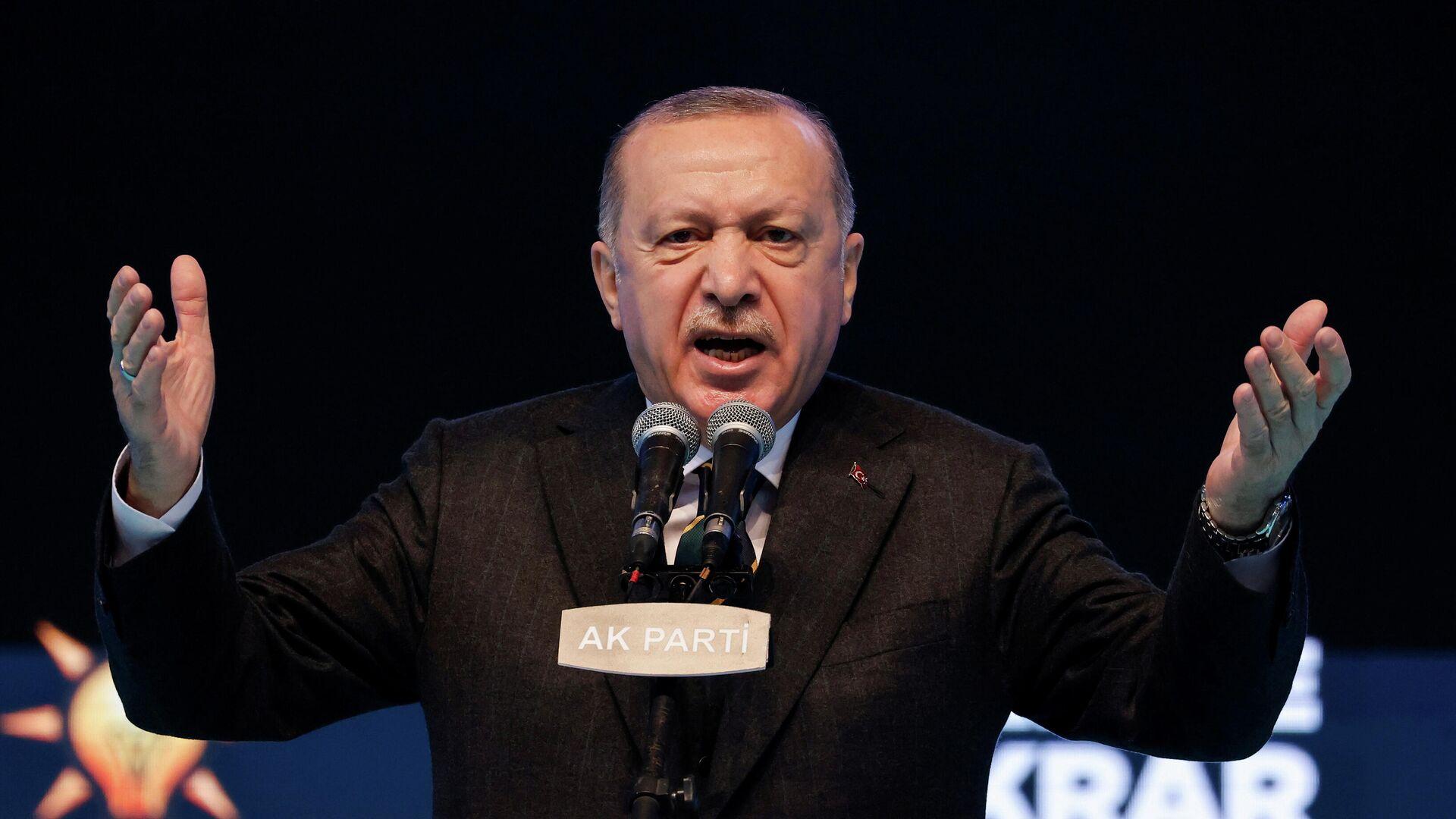 Recep Tayyip Erdogan, el presidente turco - Sputnik Mundo, 1920, 14.04.2021