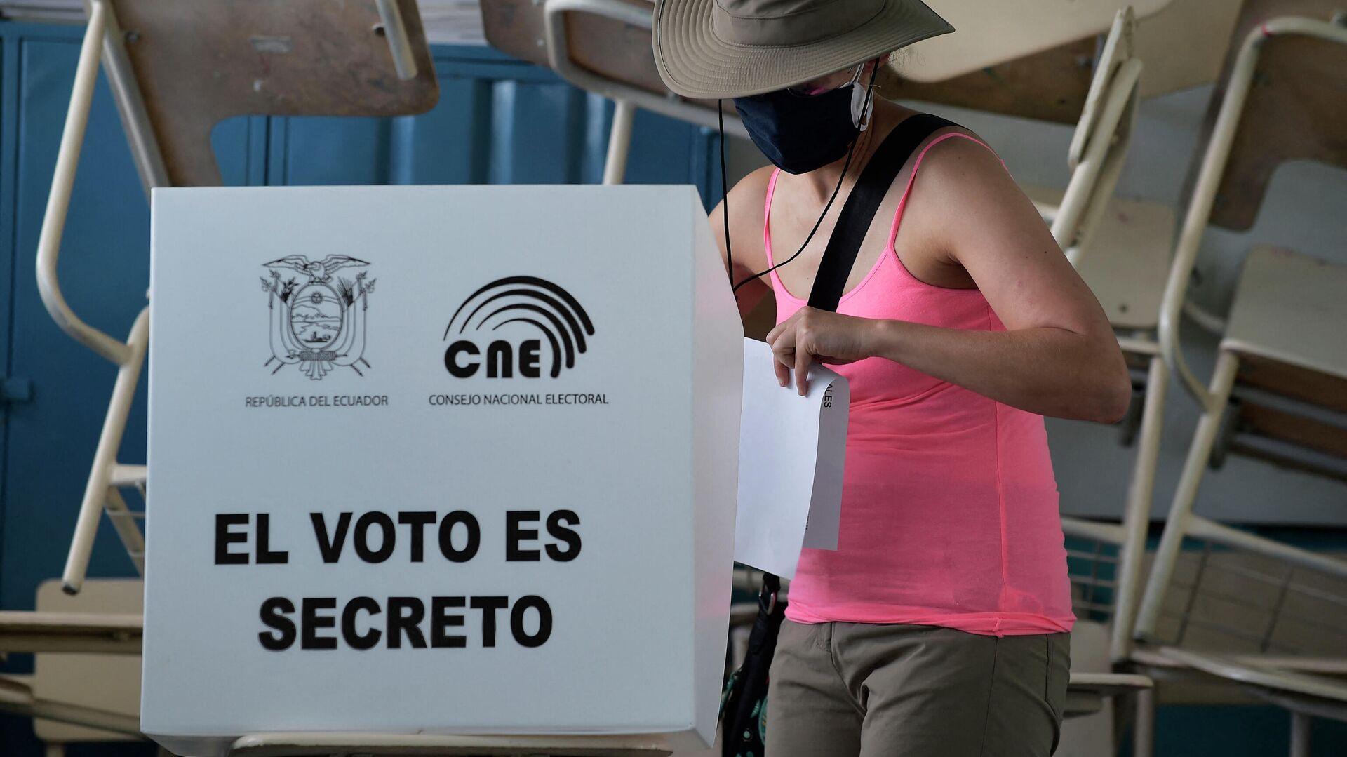 Elecciones presidenciales en Ecuador - Sputnik Mundo, 1920, 14.04.2021