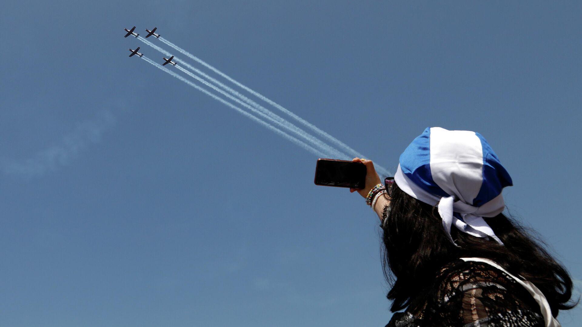 Espectáculo aéreo militar por el motivo del Día de la Independencia de Israel - Sputnik Mundo, 1920, 15.04.2021
