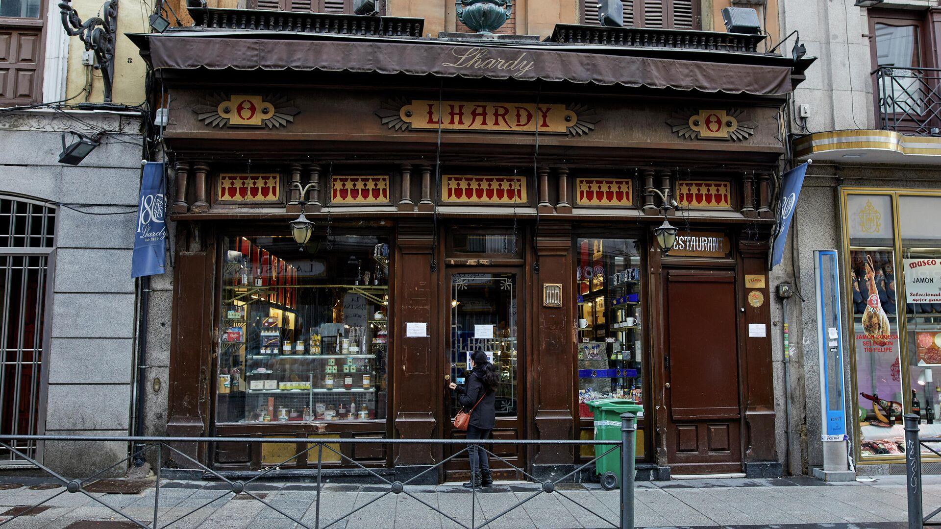 Fachada de Casa Lhardy, en Madrid - Sputnik Mundo, 1920, 15.04.2021