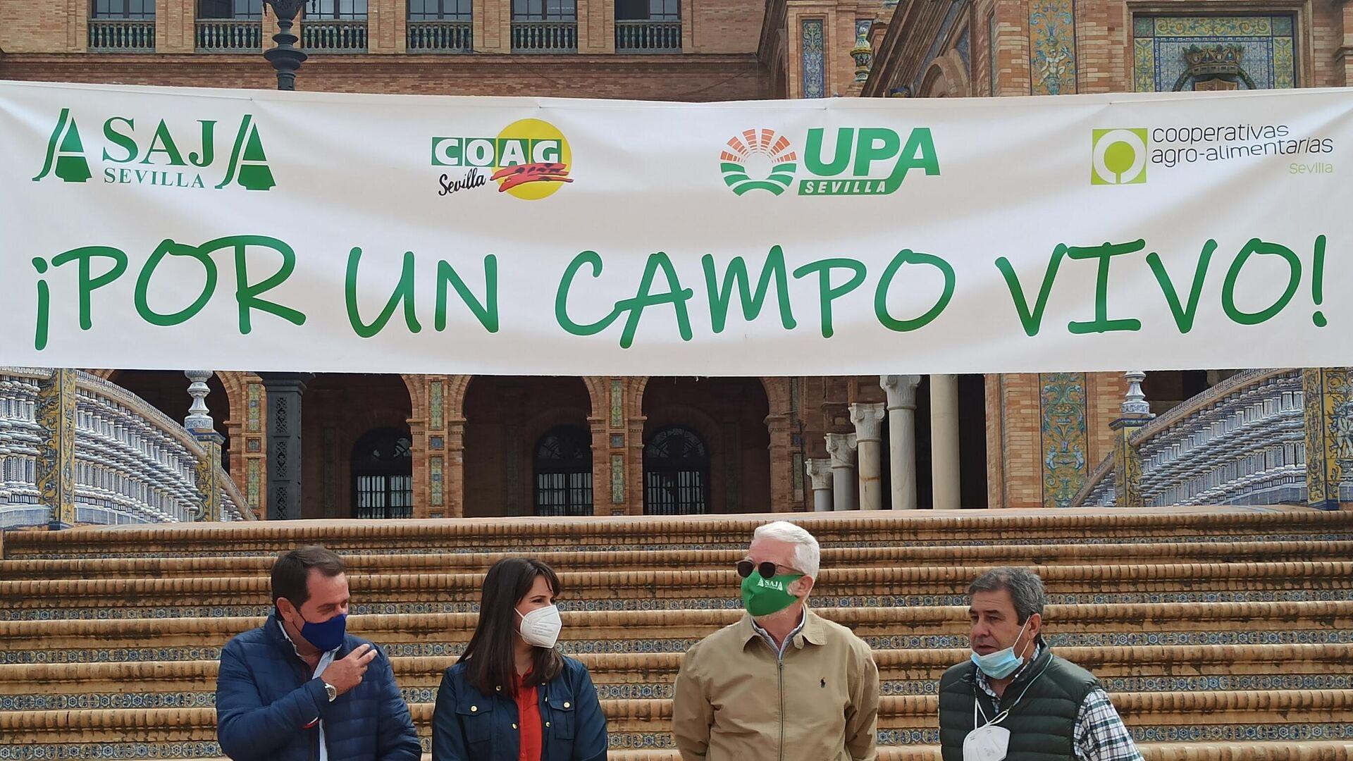 La protesta de agricultores en Sevilla - Sputnik Mundo, 1920, 15.04.2021