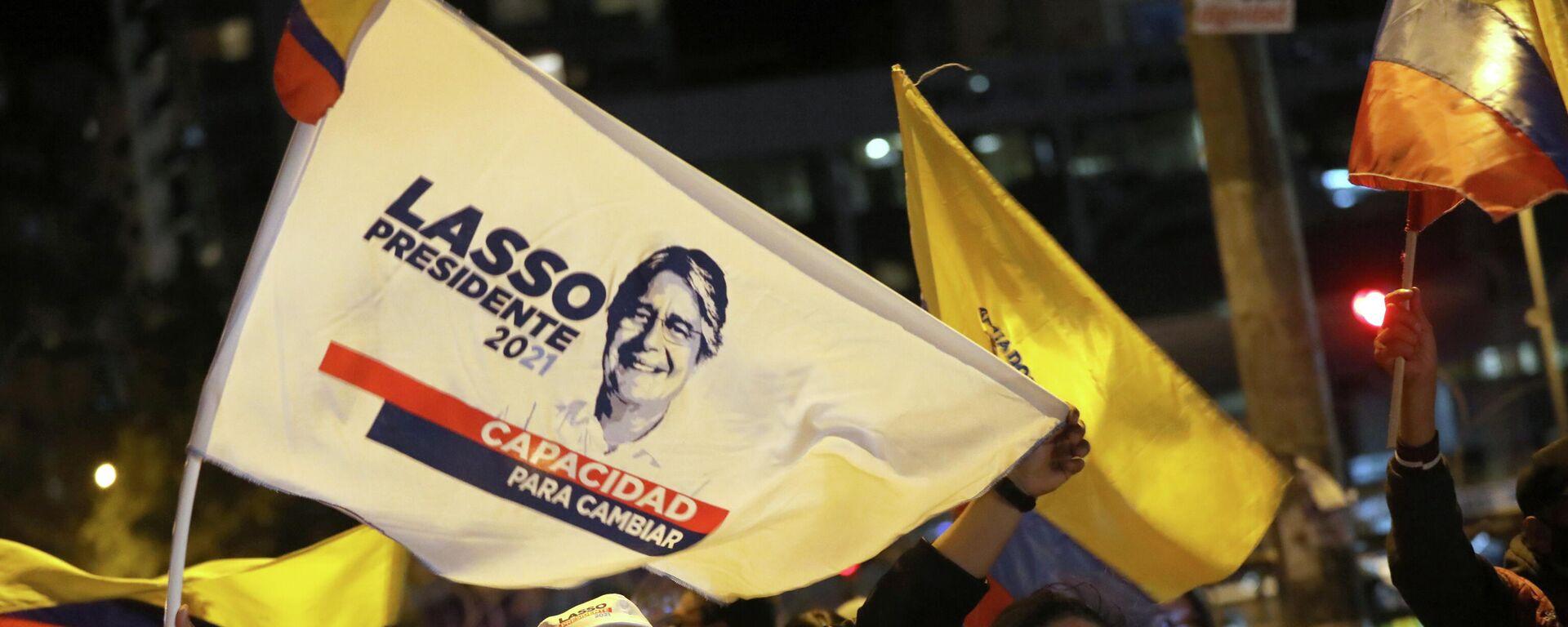 Partidarios de Guillermo Lasso, presidente electo de Ecuador - Sputnik Mundo, 1920, 16.04.2021