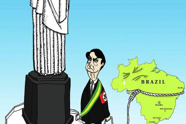 Caricatura de Jorge Sánchez Armas que concursa en Humor Político - Sputnik Mundo