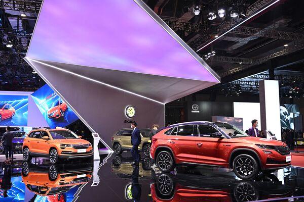 Los coches Skoda en el XIX Salón Internacional del Automóvil de Shanghái. - Sputnik Mundo