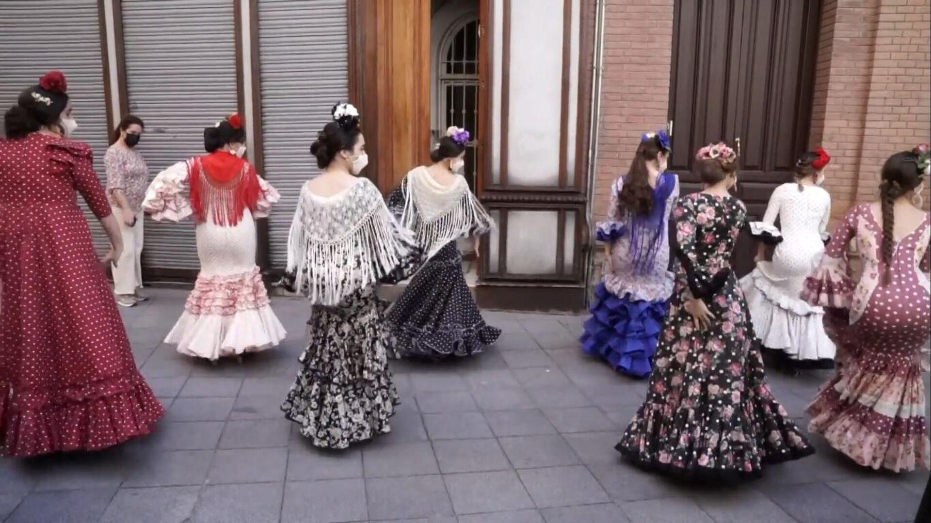 Flamenco en las calles de Sevilla para recrear la Feria - Sputnik Mundo, 1920, 19.04.2021