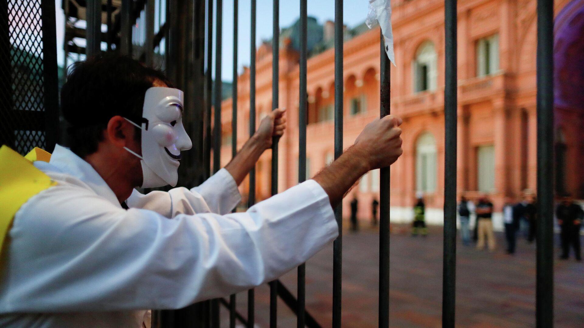 Protestas en Buenos Aires - Sputnik Mundo, 1920, 19.04.2021