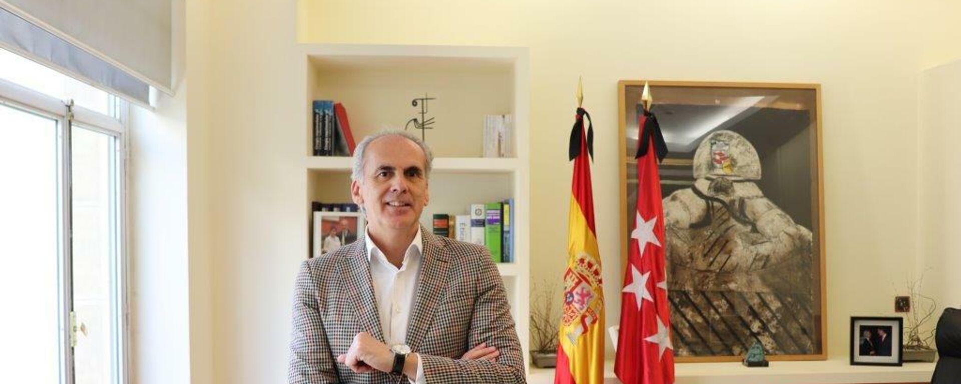 Enrique Ruíz Escudero, Consejero de Sanidad de la Comunidad de Madrid y número dos en las listas del PP para las elecciones del 4 de mayo - Sputnik Mundo, 1920, 20.04.2021