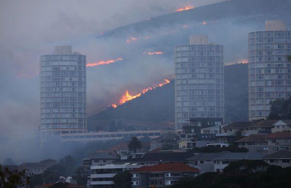 En la mañana del 20 de abril se supo que el fuego se intensificó y su área alcanzó las 500 hectáreas. Por el momento unos 5.000 bomberos trabajan en el lugar y son ayudados por voluntarios. - Sputnik Mundo