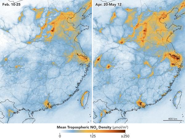 Contaminación atmosférica en China durante la cuarentena y después - Sputnik Mundo