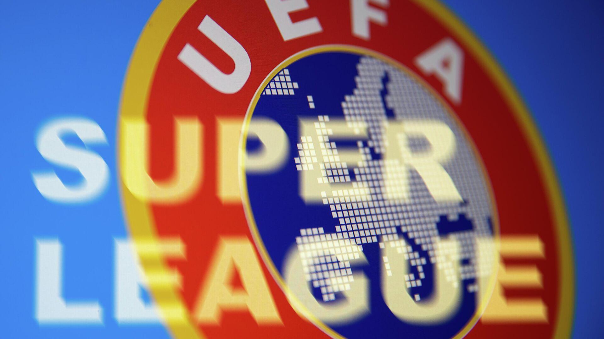 Superliga y el logo de la UEFA - Sputnik Mundo, 1920, 20.04.2021