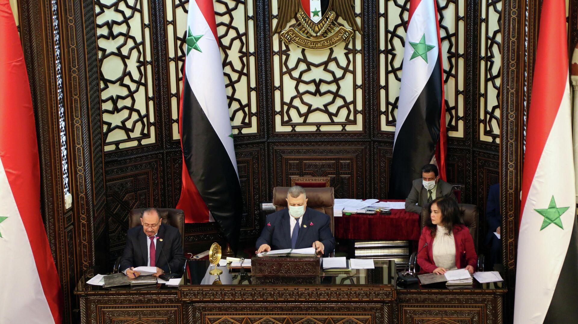El Parlamento de Siria discute el tema de las próximas elecciones presidenciales en el país, el 18 de abril de 2021 - Sputnik Mundo, 1920, 20.04.2021