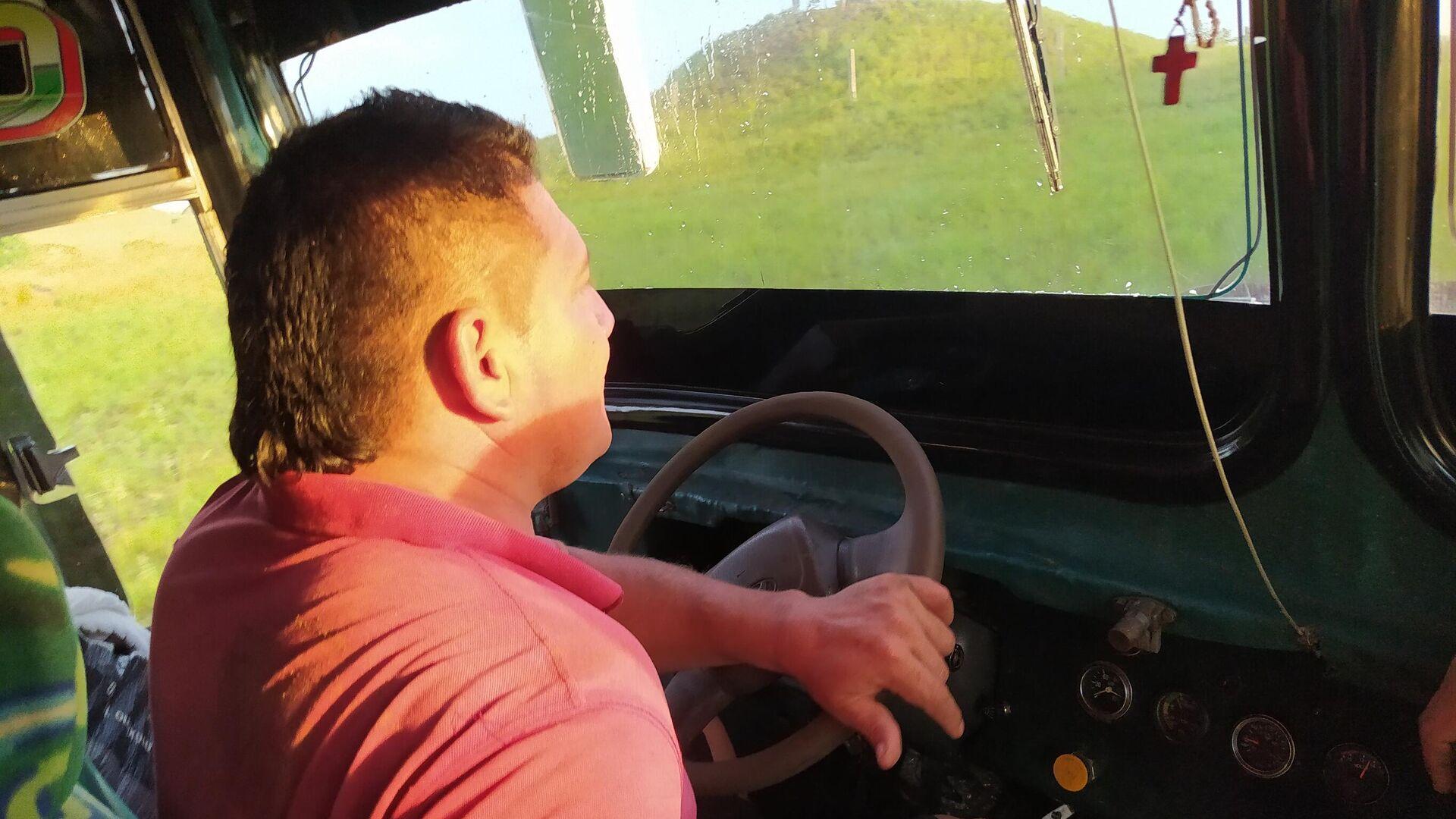 Néstor Esguerra es conductor de bus en los llanos orientales de Colombia - Sputnik Mundo, 1920, 21.04.2021