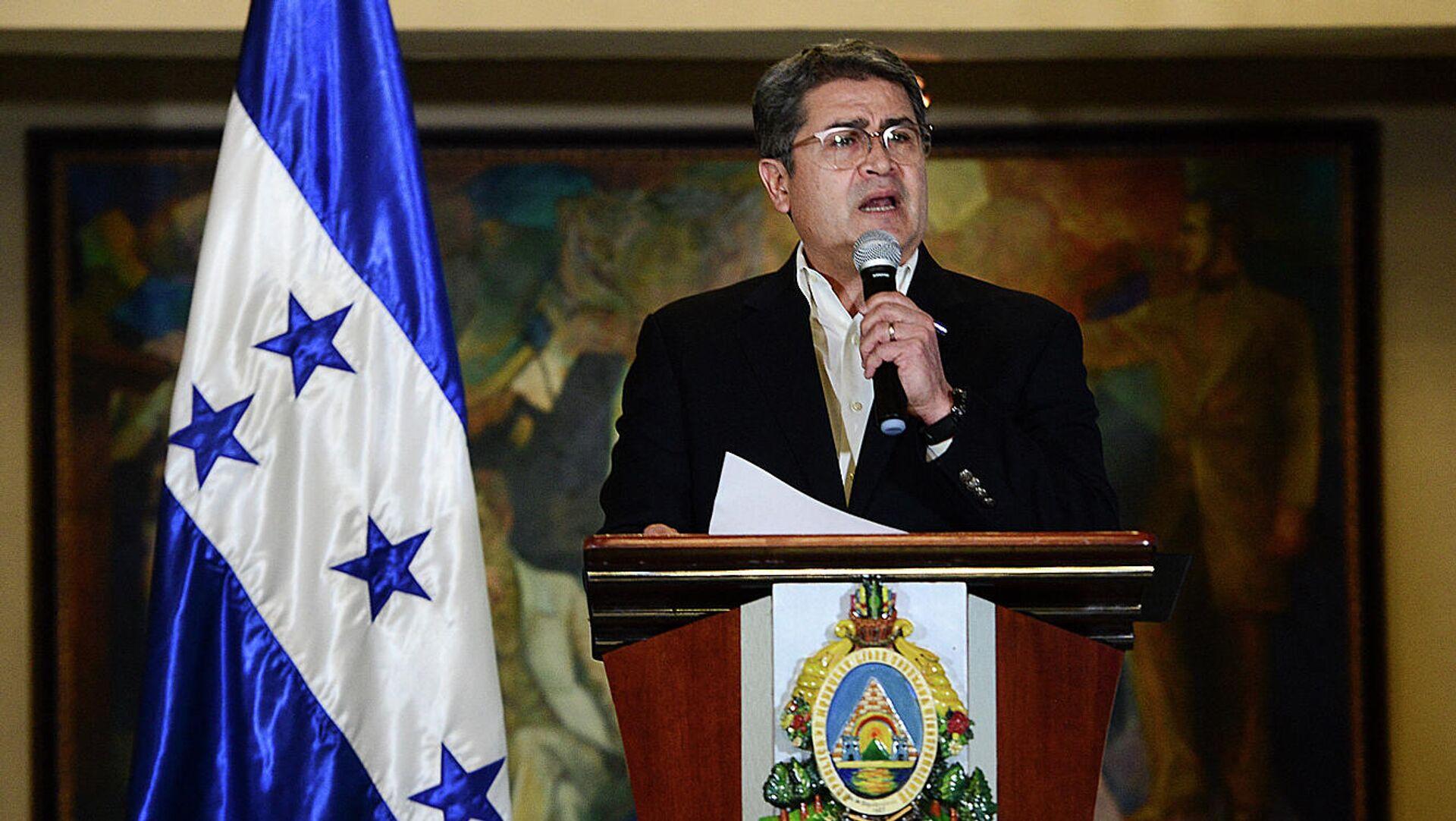 Juan Orlando Hernández, presidente de Honduras - Sputnik Mundo, 1920, 21.04.2021