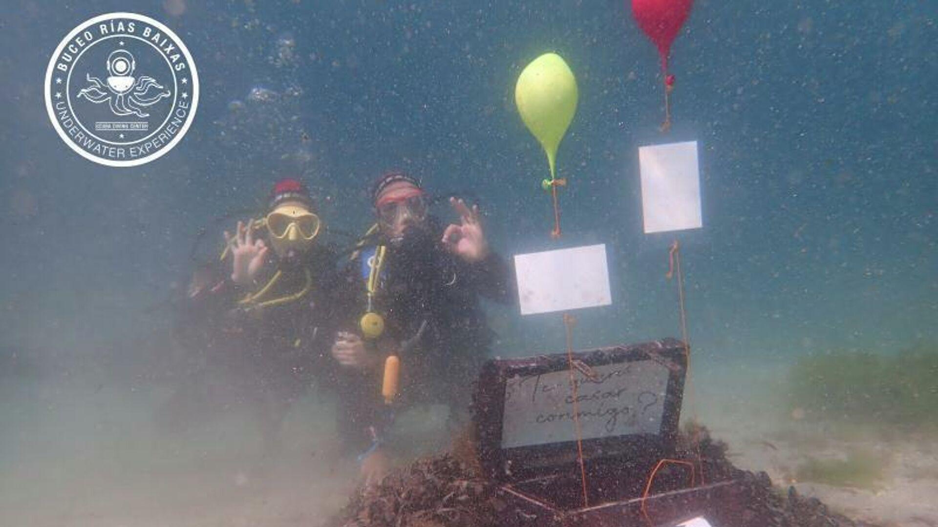 Adrián Vázquez y Tamara Fraga bajo el agua - Sputnik Mundo, 1920, 22.04.2021