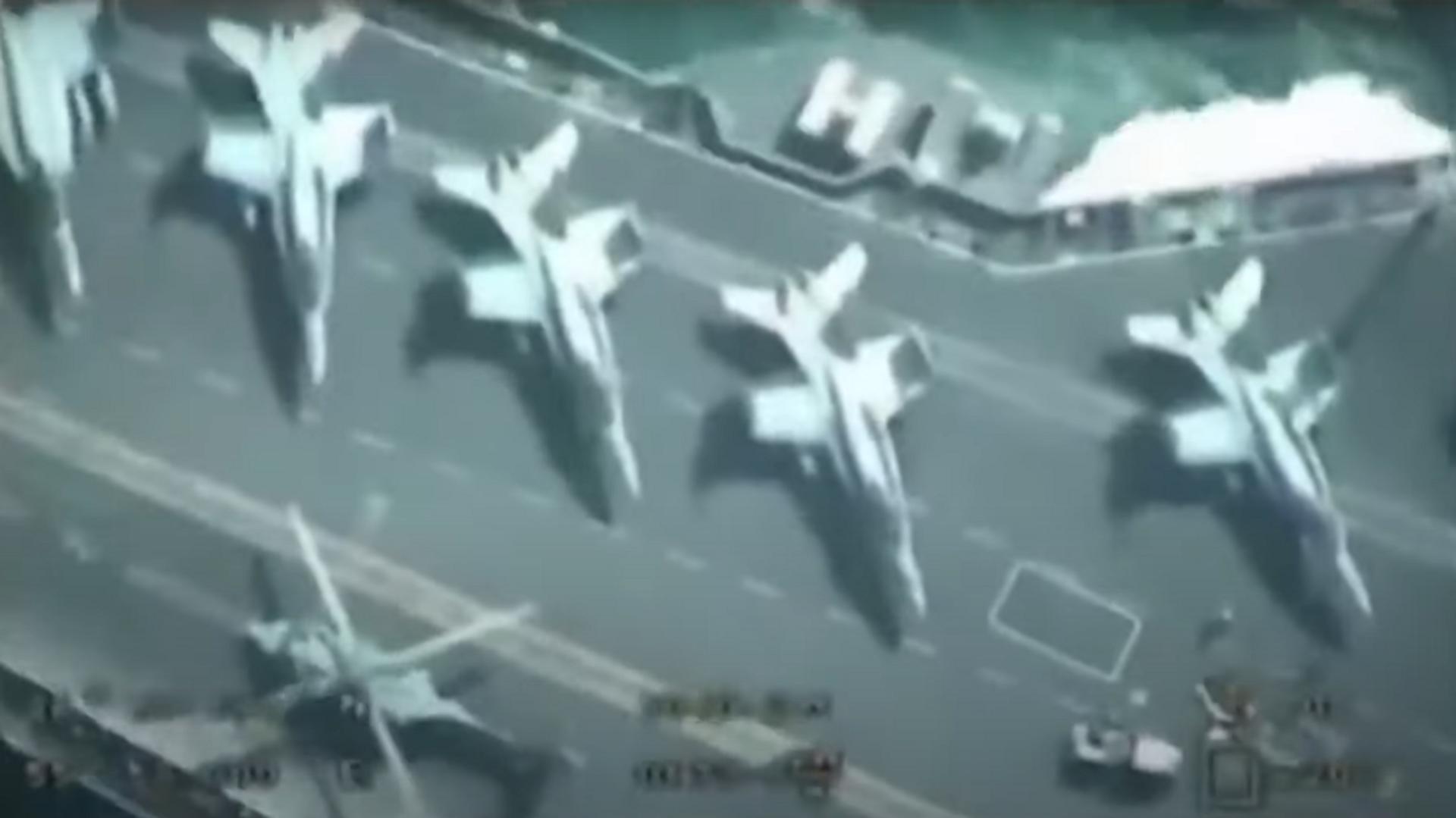 Un dron iraní 'inspecciona' el portaaviones de la Armada de EEUU - Sputnik Mundo, 1920, 22.04.2021