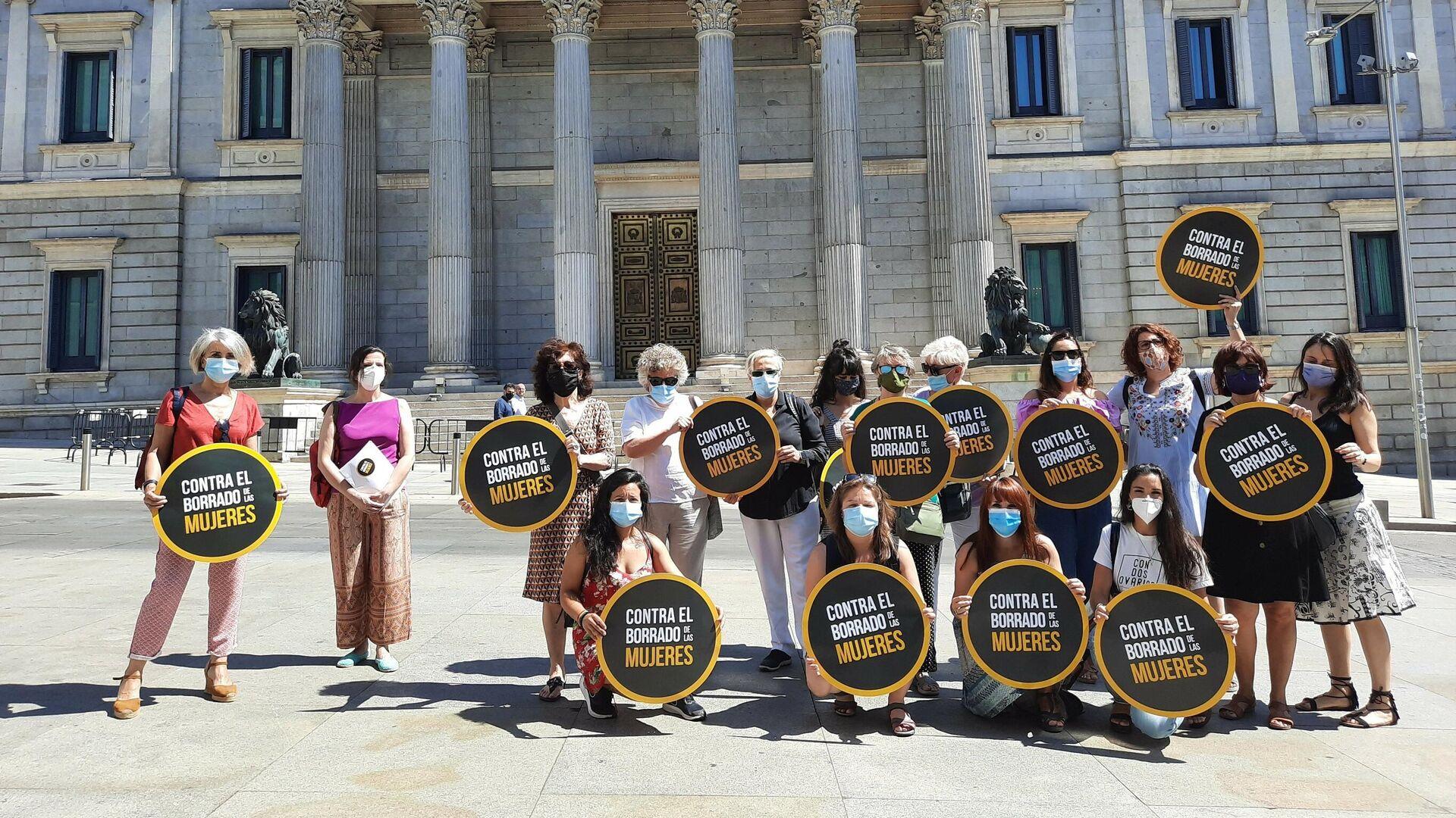 Foto de ARCHIVO. Alianza contra el Borrado de las Mujeres ante el Congreso - Sputnik Mundo, 1920, 23.04.2021