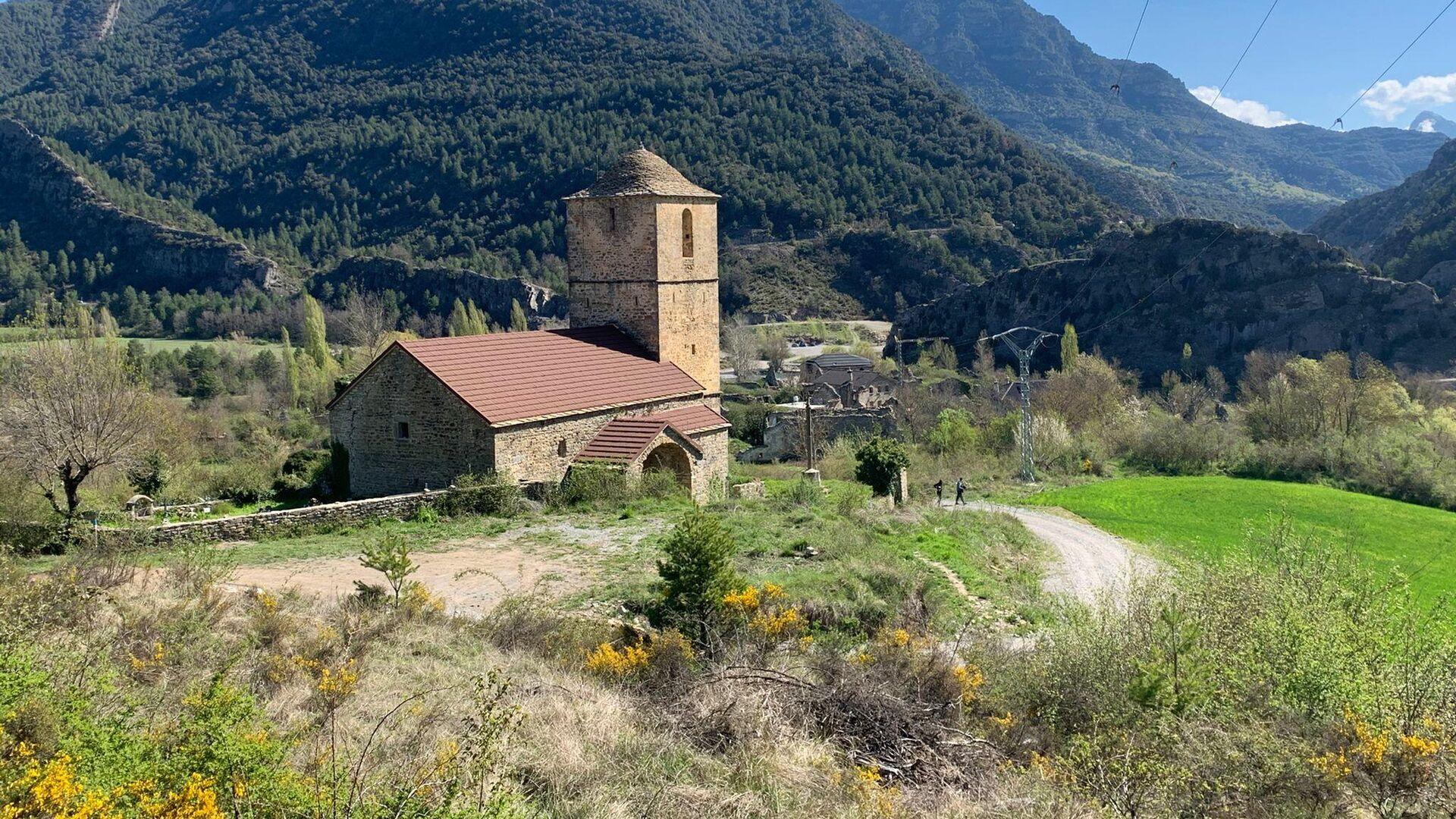 Vista de la iglesia de San Miguel de Jánovas (Huesca) - Sputnik Mundo, 1920, 25.04.2021