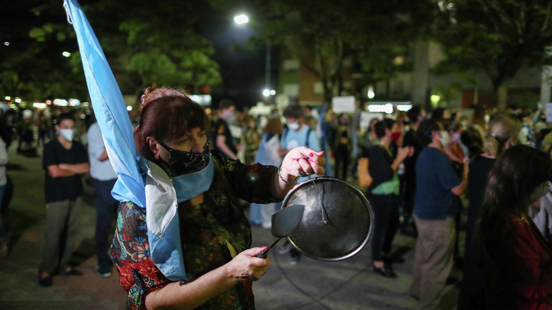 Protestas en Buenos Aires contra las medidas de restrictivas del Gobierno ante la pandemia de COVID-19 - Sputnik Mundo, 1920, 23.04.2021
