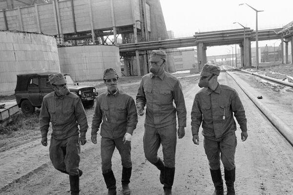 Liquidadores de las consecuencias de la catástrofe nuclear de Chernóbil - Sputnik Mundo