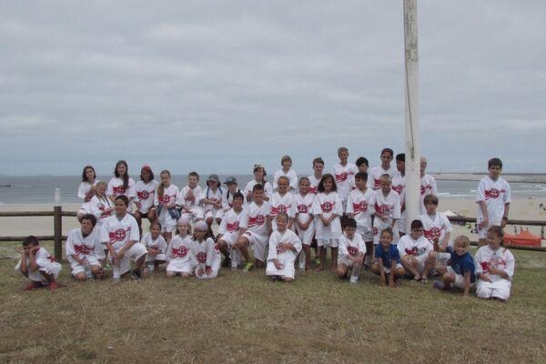 'Niños de Chernóbil', participantes del programa de la Asociación Ledicia Cativa en una actividad deportiva en Galicia - Sputnik Mundo